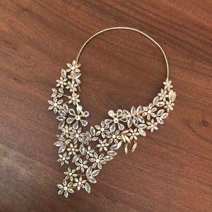 BCBG Gold Gemmed Necklace